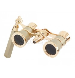 Levenhuk Brodway theatre binocular 3x25 golden with handle