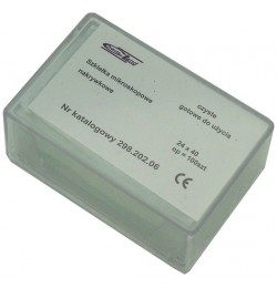 100 pcs 24x40 mm microscopic cover slides