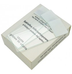 50 pcs microscopic slides with white description field