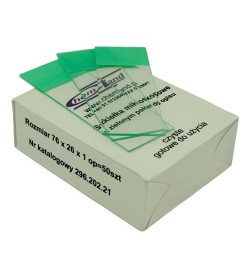 50 pcs microscopic slides with green description field
