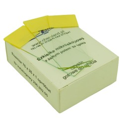50 pcs microscopic slides with yellow description field