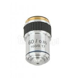 Obiektyw mikroskopowy 60x 20 mm / NA 0.85 (TSMO60x)